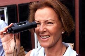 SAS Invitational golfturnering i Rungsted i Danmark lockade mycket folk, bl.a dök förre ABBA medlemmen Anni-Frid Lyngstad upp för att se golfeliten svinga sina klubbor.
